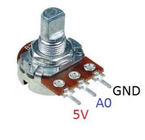 Переменный резистор адуино