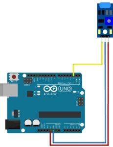схема подключения датчик вибрации ардуино
