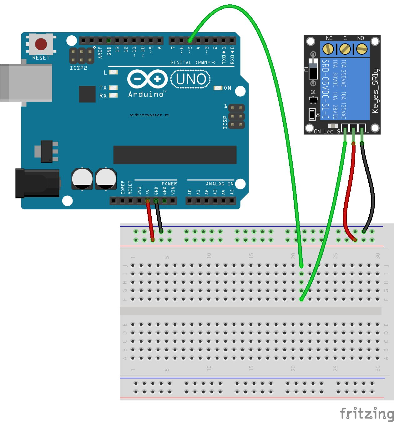 Relay Module and Arduino - Stack Overflow