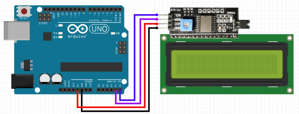 LCD i2c дисплей и переходник подключение к ардуино