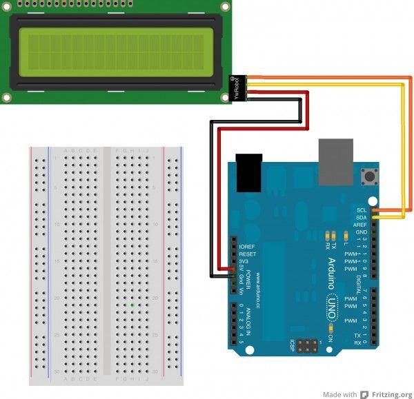Подклюение LCD к ардуино