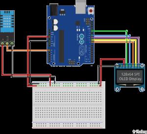 Пример OLED SPI arduino