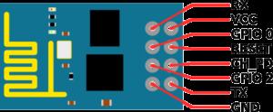 esp8266 описание контактов