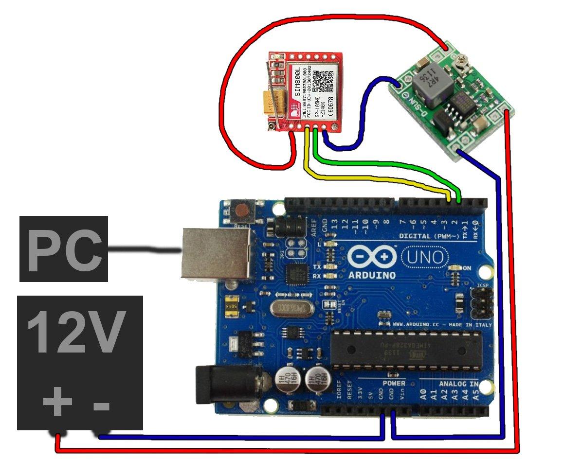 Управление ардуино через GSM /GPRS модули A6, A7 SIM800, SIM900