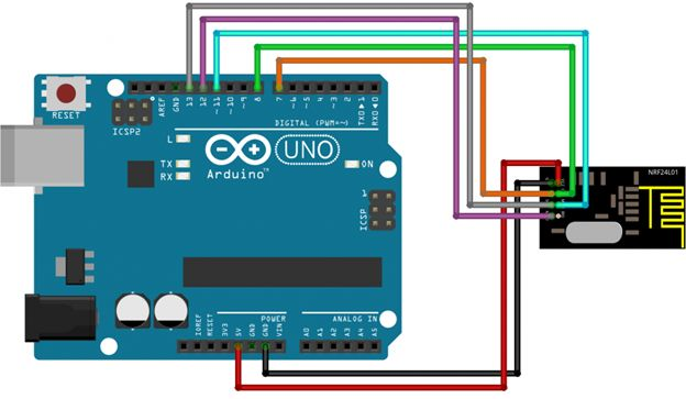Подключение Arduino nrf24L01 модуля