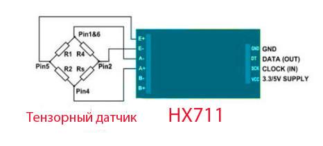 Схема подключения НХ711 к ардуино