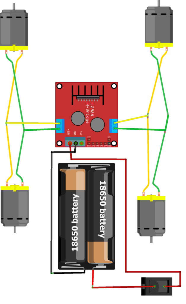 Схема ардуино робота машинки 2