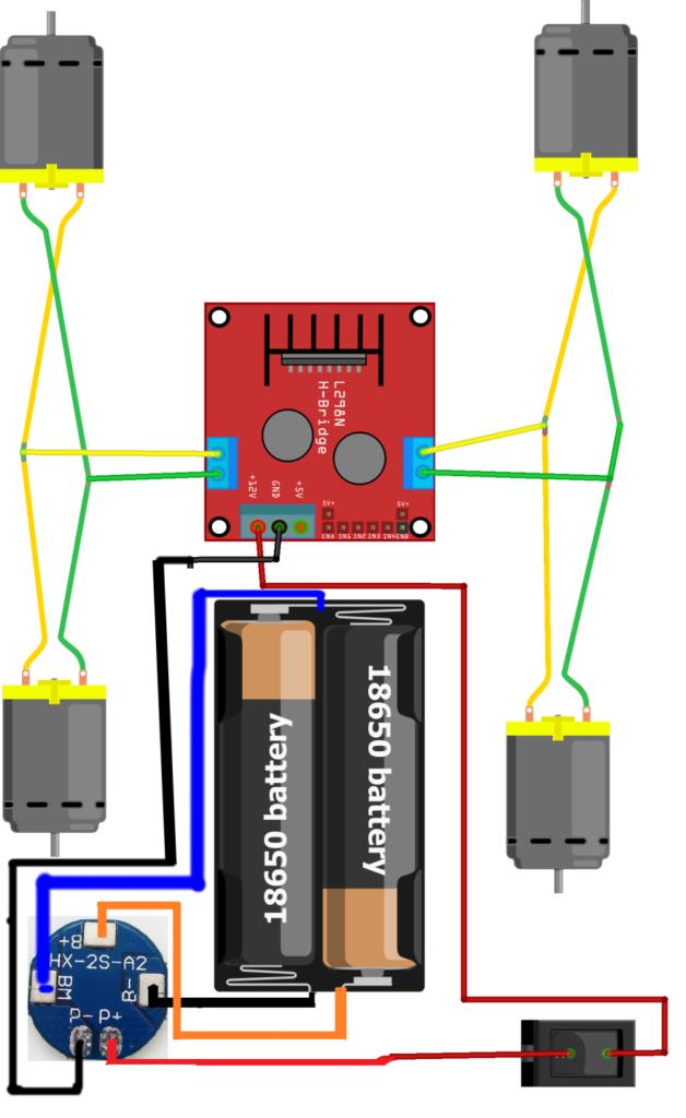 Схема ардуино робота машинки 3