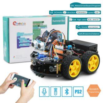 Конструктор машинки Ардуино на платформе 4WD с пультом управления Bluetooth и PS2