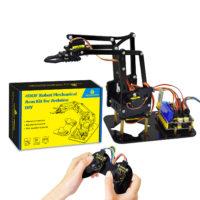 Робо-рука на Ардуино. DIY манипулятор робота с акриловыми деталями, 4 степени свободы