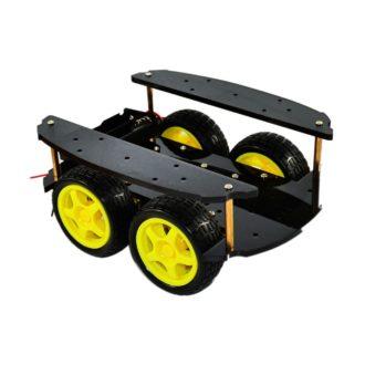 4WD платформа для Ардуино с необычным видом крепления элементов