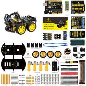 Полный набор машинки 4WD на Ардуино с датчиками, экраном и дистанционным управлением